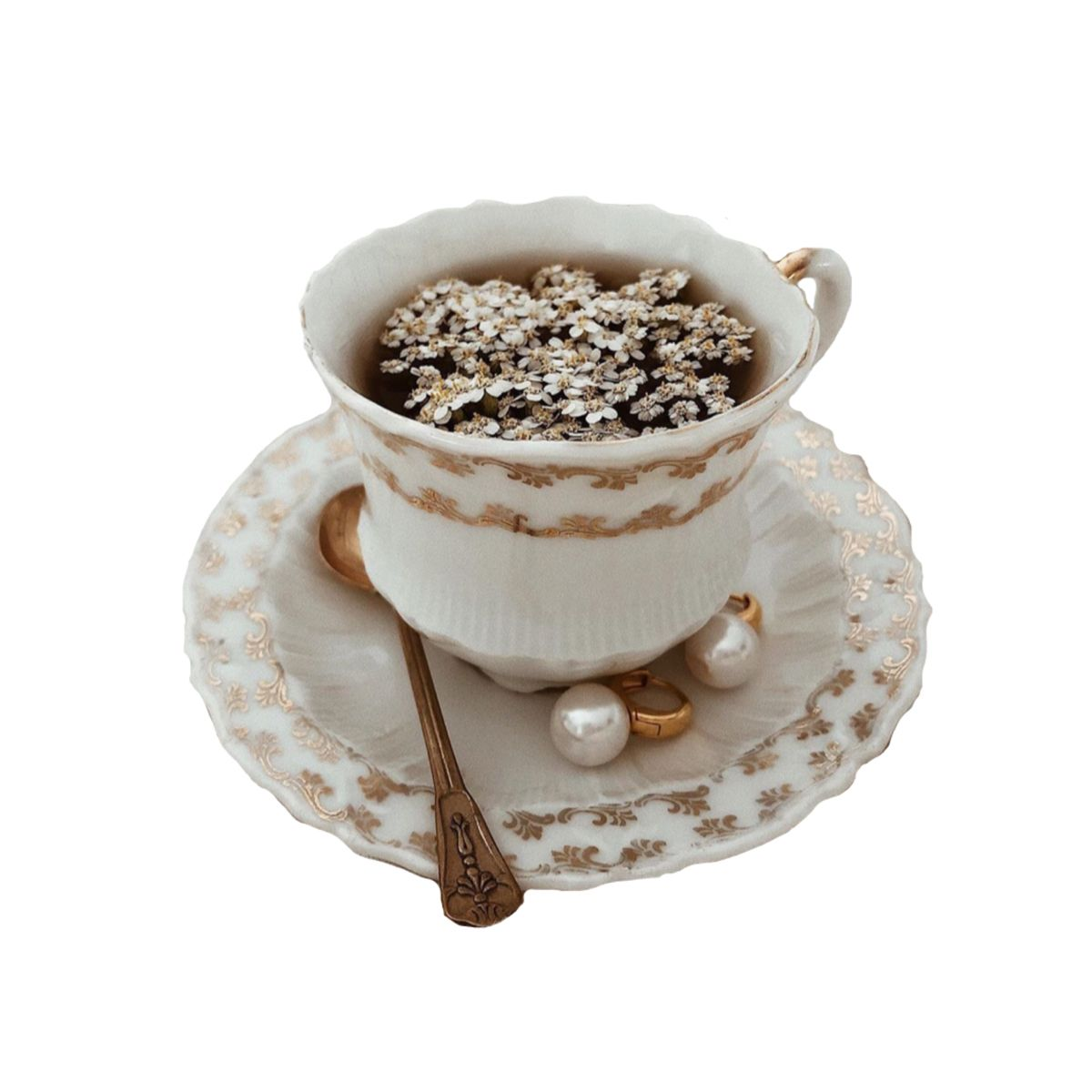 Png Polyvore Pngpolyvore White Rose Gold Flower Tea Cup Png Polyvore Food Png White Rose Png Flower Tea