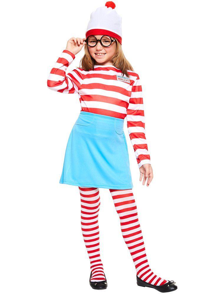 Where/'s Wally Odlaw Costume Waldo Criminal Childs Kids Boys Fancy Dress Costume