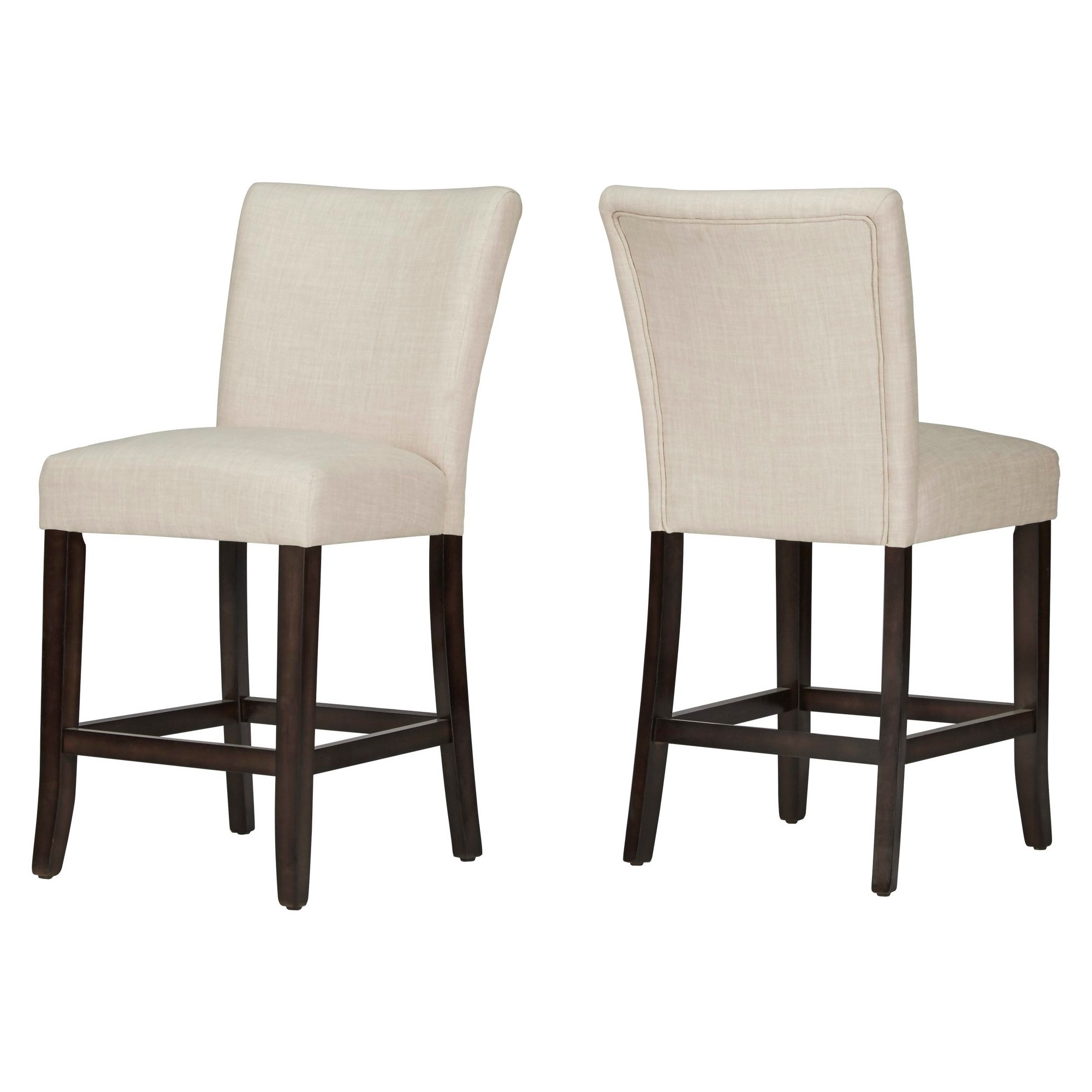 Inspireq Quinby 24 Counter Stool Oatmeal Set Of 2 Oatmeal