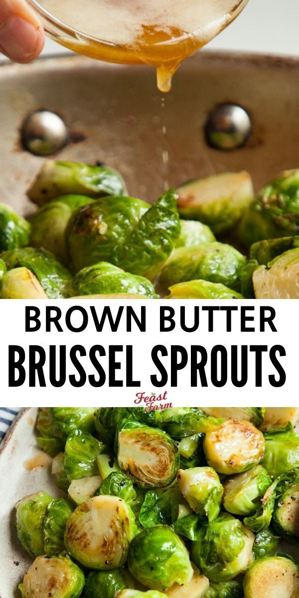 Sauteed brussel sprouts with browned butter