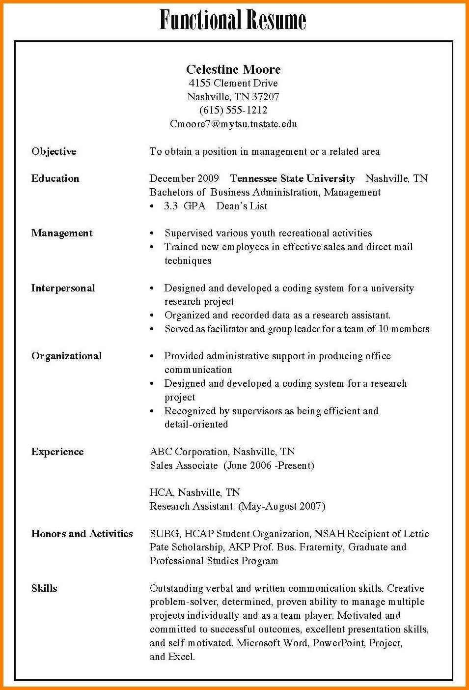 Different Types Of Resumes Contemporary 8 Different Types