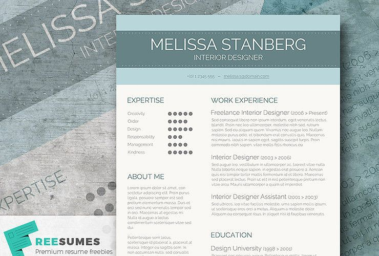 Stylish CV Template Freebie - The Modern-Day Candidate free online