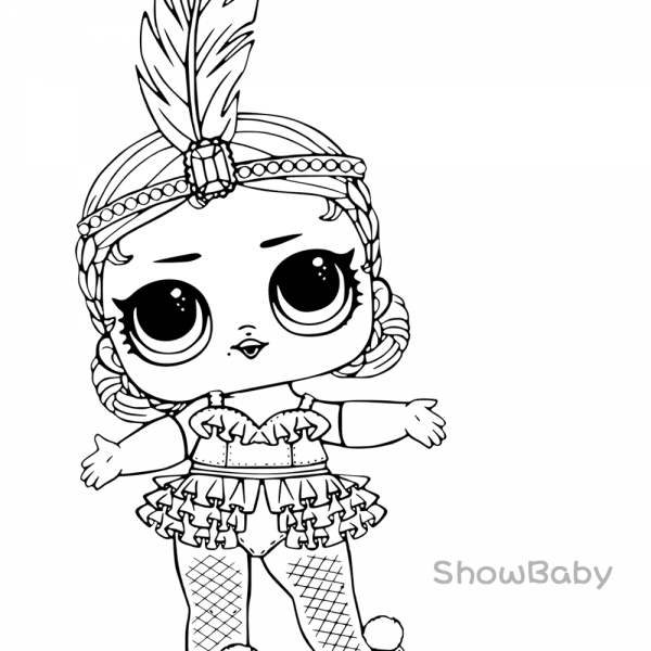 Lol Surprise Doll Coloring Pages Showbaby Kids Printable