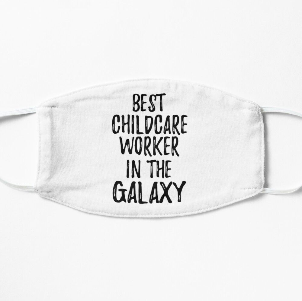 Photo of 'Best Childcare Worker In The Galaxy Funny Sci-Fi Lover Gift Nerd Coworker Geek Present Idea' Mask by Funny-Quotes