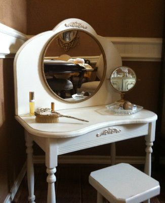 new style a2f64 7bbbc Vintage Childs Vanity Antique Mirror | For the Home | Diy ...
