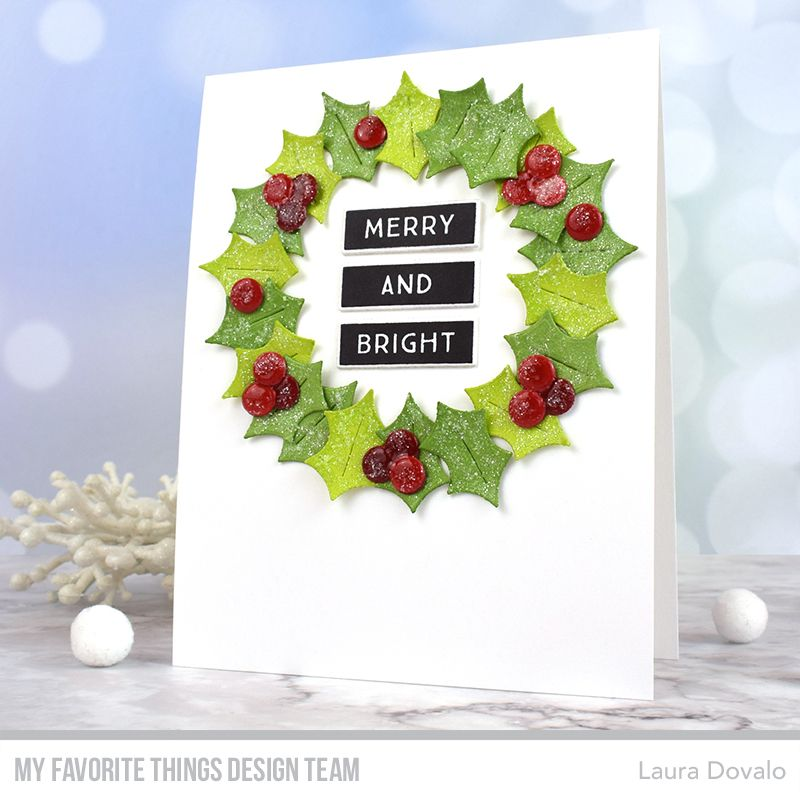 Holly Leaf and Berries stamp 1 christmas holiday accent stamp