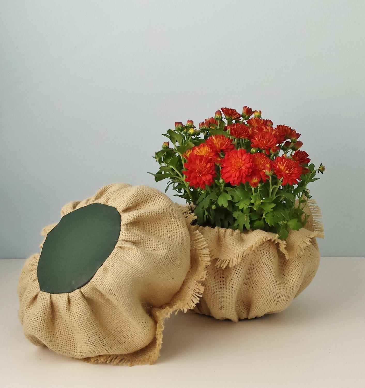Burlap Pot Covers Plant Sleeves Florist By Thecatsout