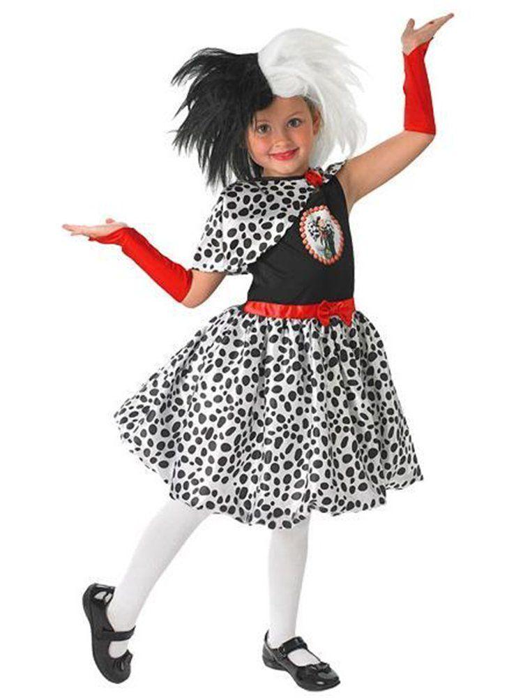 World Book Day-Film-101 Dalmations-Cruel Child/'s MADAM CRUELLA COSTUME All Ages
