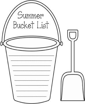 Write your own summer bucket list with this fun printable for Sand bucket template