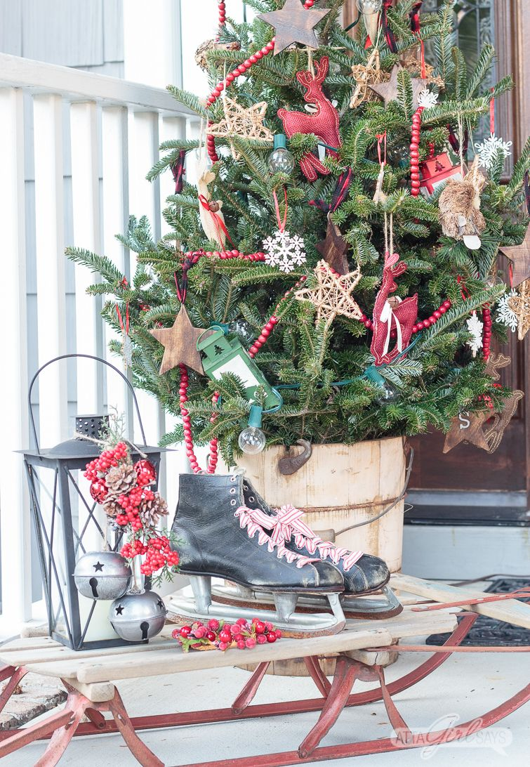Vintage Christmas Porch Decorating Ideas Christmas Porch Decor Front Porch Christmas Decor Front Porch Decorating