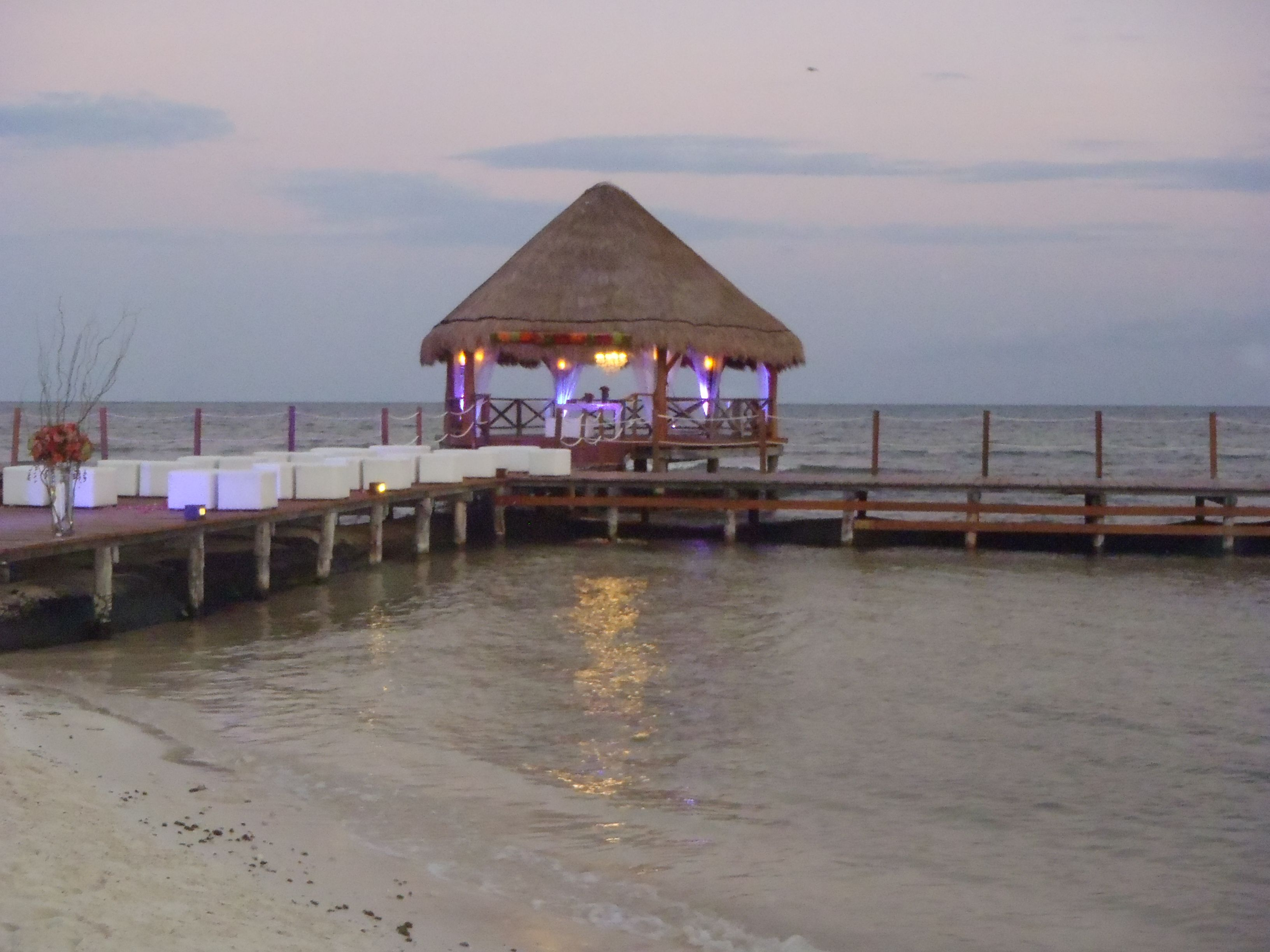 Gazebo Pier Setting At Secrets Silversands Riviera Maya Mexico