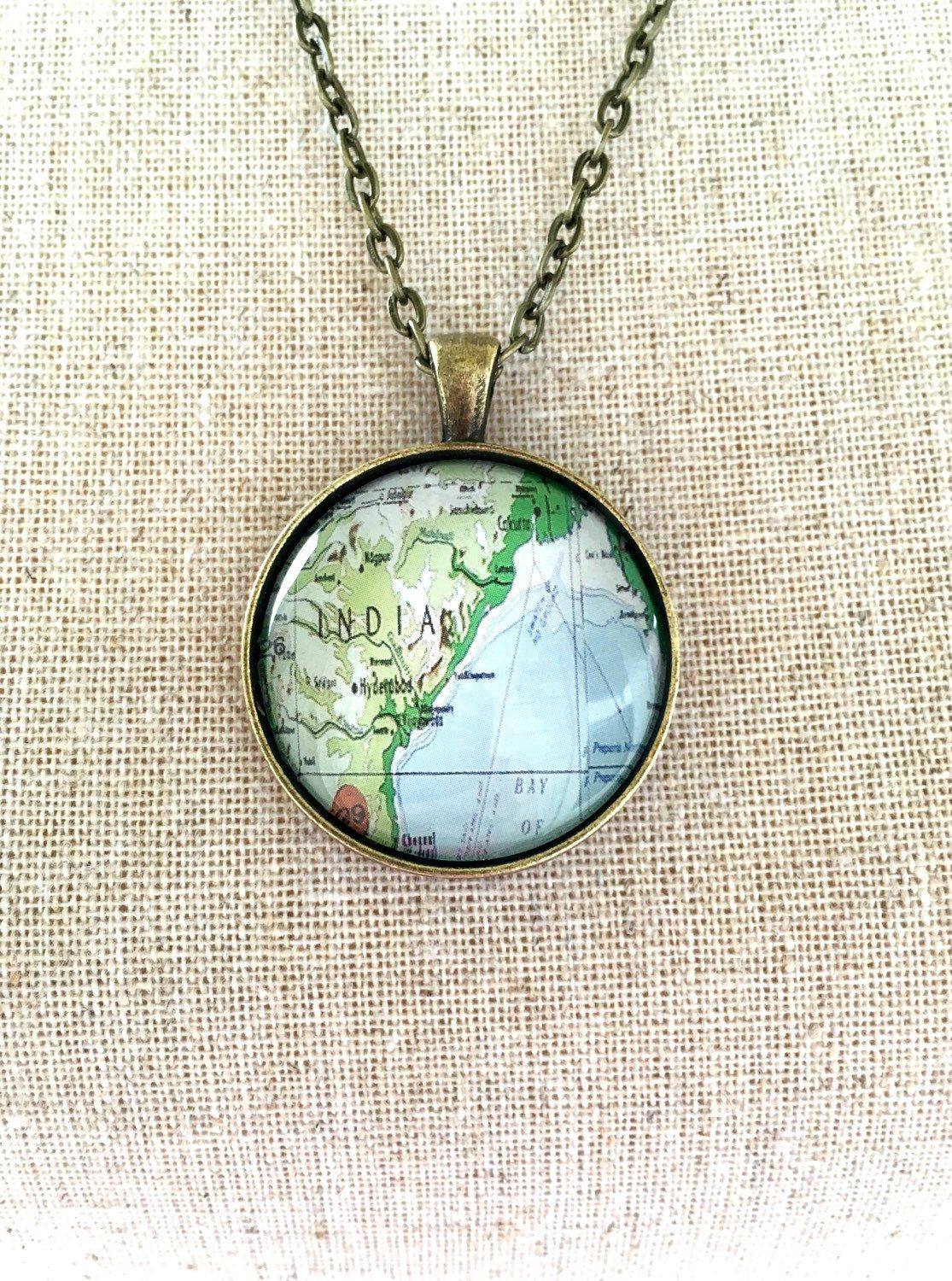Travel necklace india travel world map wanderlust unique gift for travel necklace india travel world map wanderlust unique gift for traveler globe by industrialwhimsy on etsy gumiabroncs Gallery