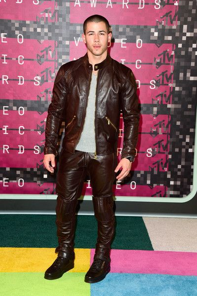 d5ca03206aa Nick Jonas attends the MTV VMAs 2015 in Los Angeles