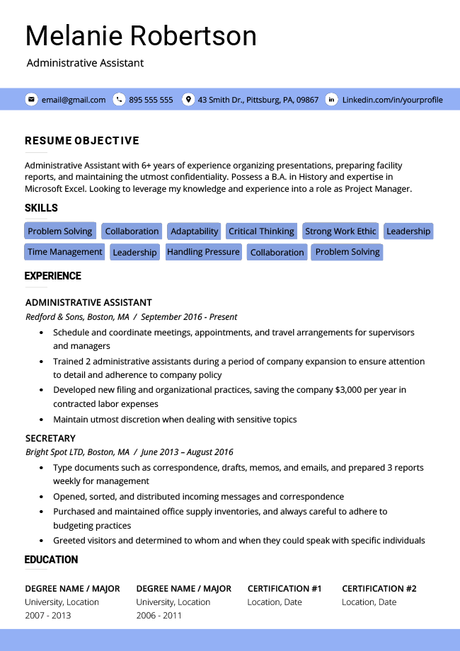 Resume Genius Free from i.pinimg.com
