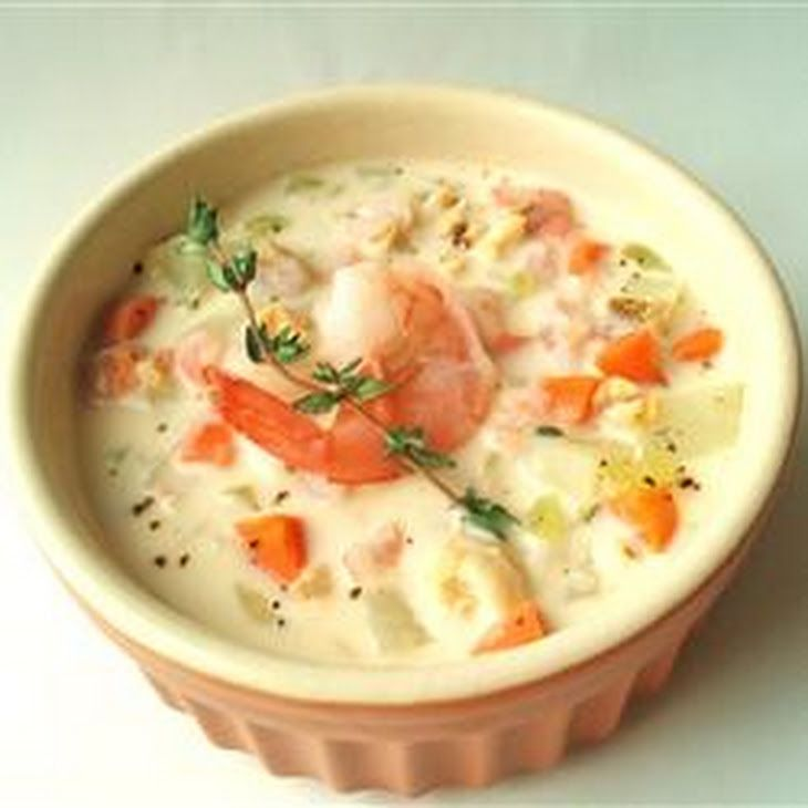 Christmas Soup.Christmas Seafood Soup
