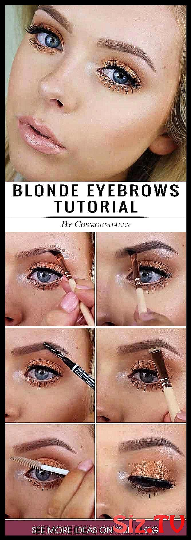 Blonde eyebrows may be not so easy to deal with bu