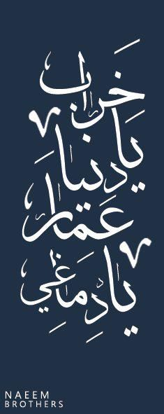 خراب يا دنيا عمار يا دماغي Beautiful Calligraphy Typography Art Arabic Art