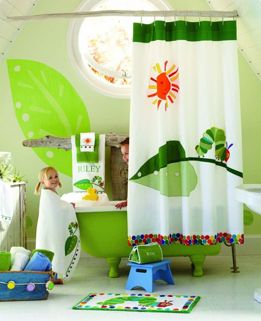 very hungry caterpillar bathroom