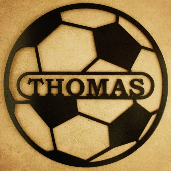 Soccer Ball Personalized Metal Wall Art | Soccer ball, Alabama and ...