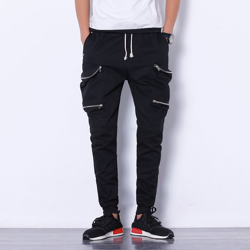 Click to Buy << Mens Joggers Pant 2017 Brand Male Cargo Pants Solid Slim  Tights Zipper Trousers Compression Men Jogger XL #Affiliate. >>