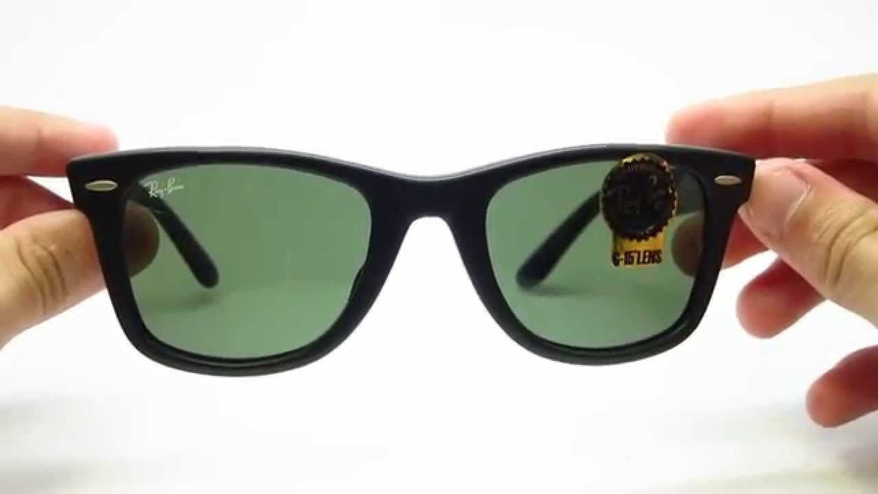 Unboxing Ray-Ban 2140F 901S Wayfarer Matte Black Sunglasses | Ray ...