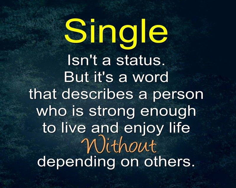Single Is The Best Relationship Strictly No Love Relationship Status Quotes Image Quotes Single Quotes