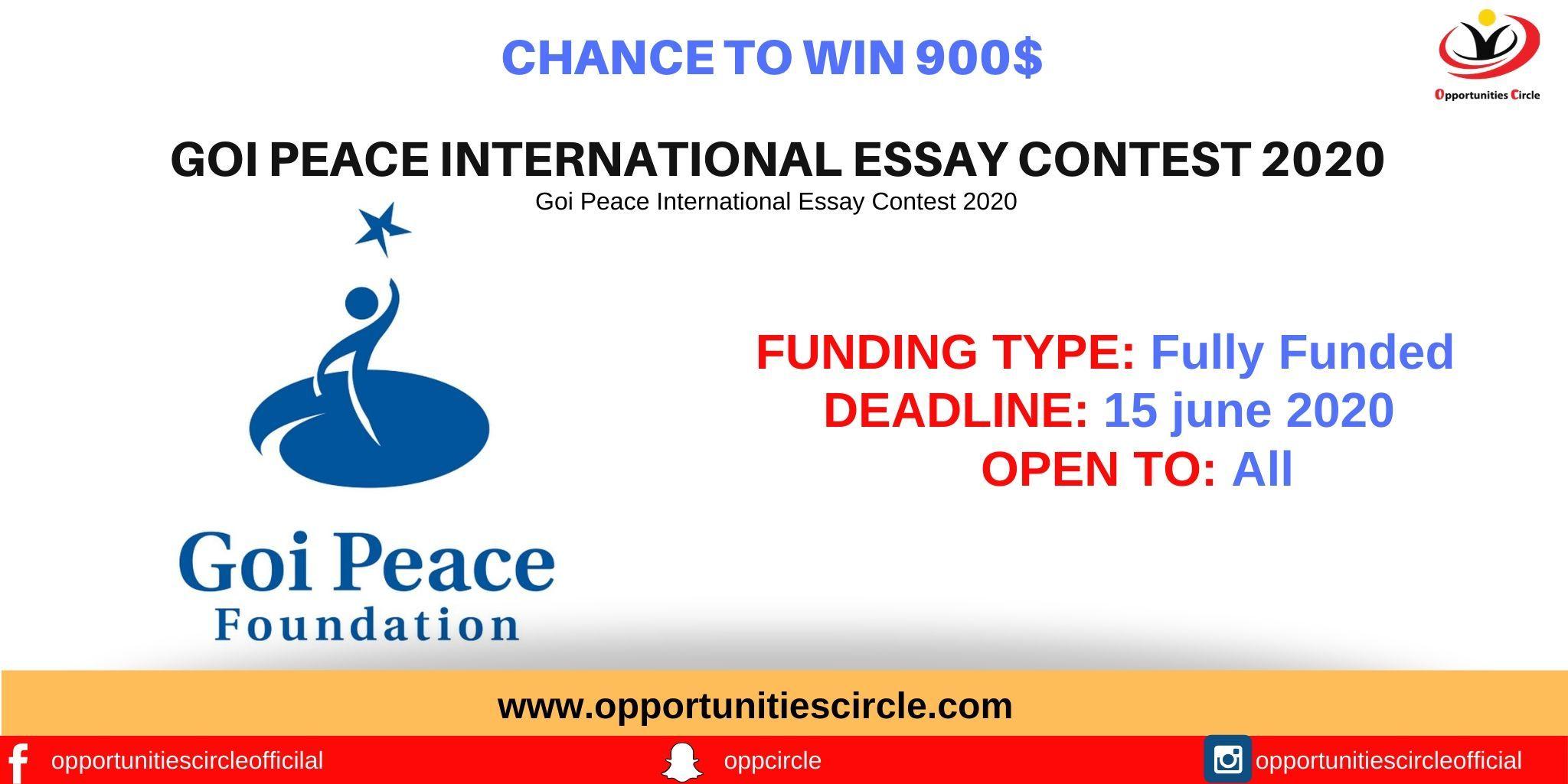 Goi Peace International Essay Contest 2020 Essay