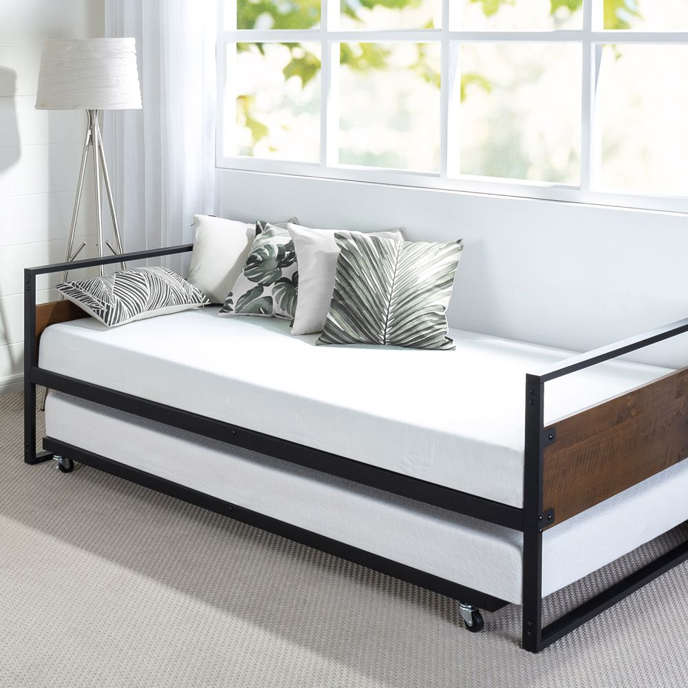 Home Trundle bed frame, Simple bed, Day bed frame