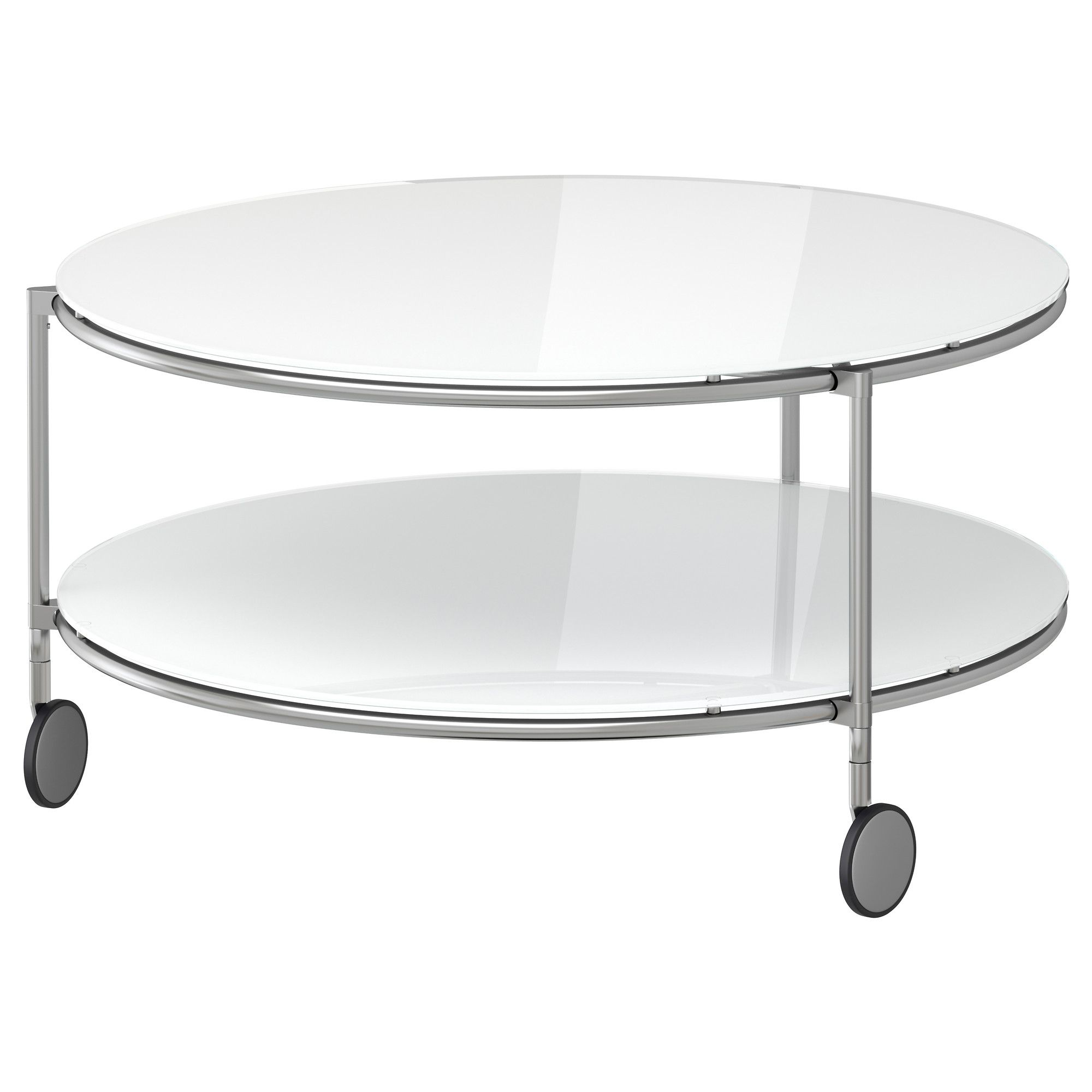 Table Basse Ikea Ronde Strind Table Basse Blanc Nickelé Ikea Tables Basses Table