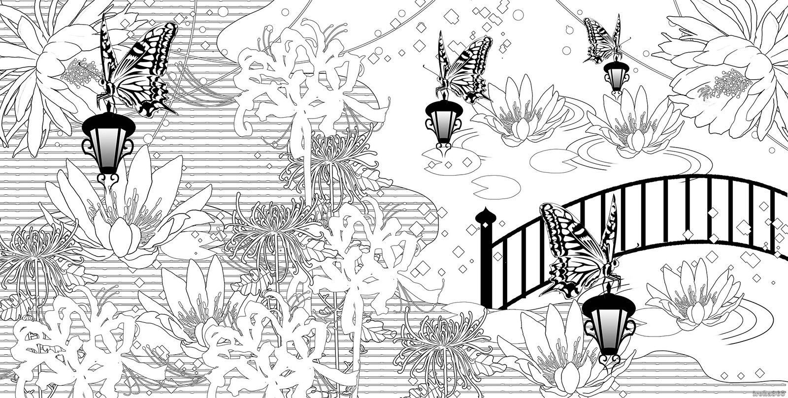 Japanese Design Coloring Book Adult Coloring Book Art Therapy 5 • $34.00