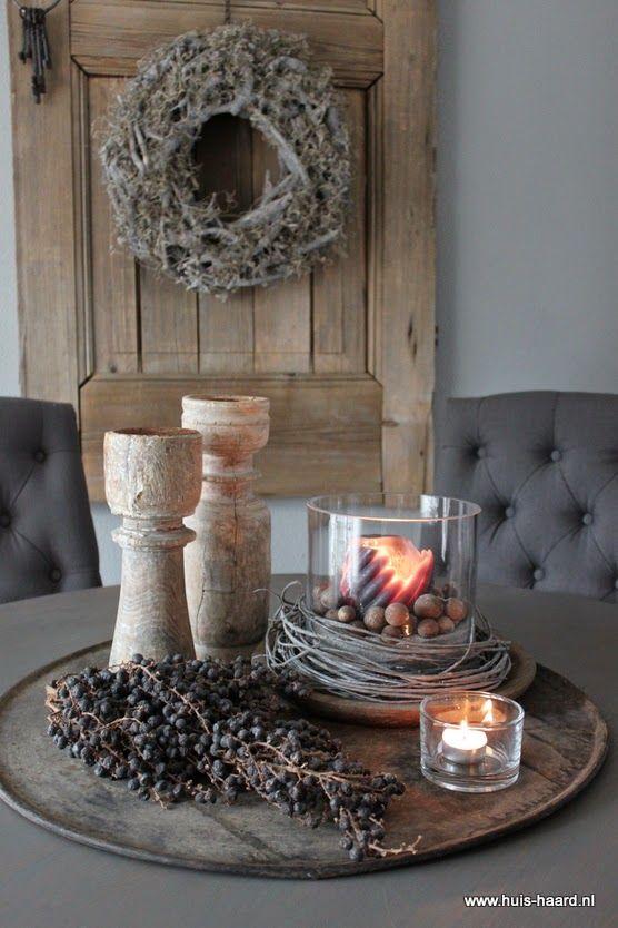 Thuis bij huis haard stiekem nog eentje wonen pinterest haard thuis en decoratie - Deco eetkamer rustiek ...