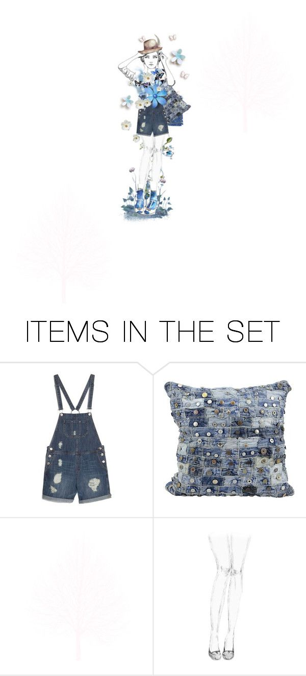 """""""Dungarees Degrees Challenge"""" by felicia-mcdonnell ❤ liked on Polyvore featuring art, polyvoreeditorial and miniset"""