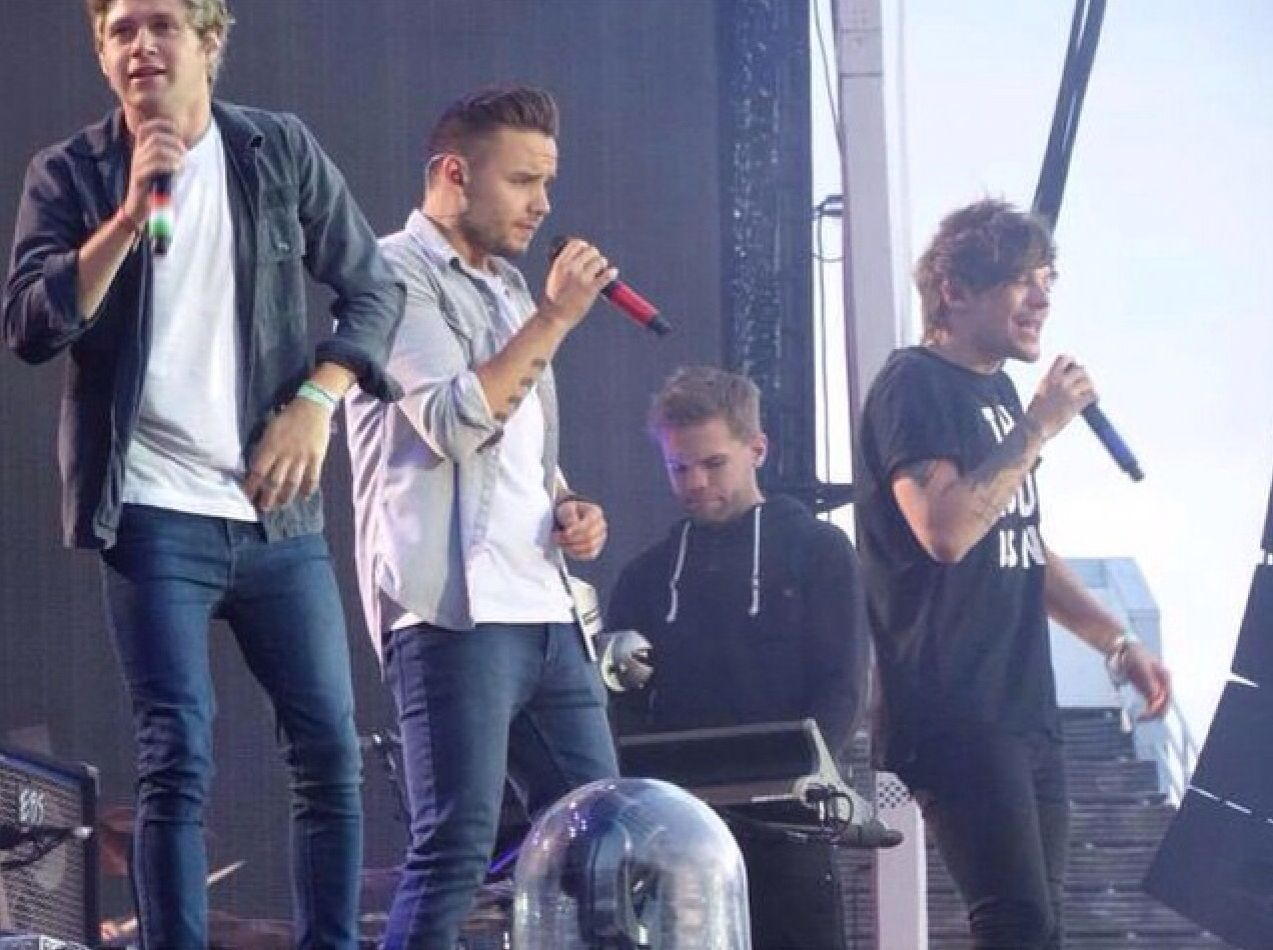One direction on stage in Helsinki,Finland