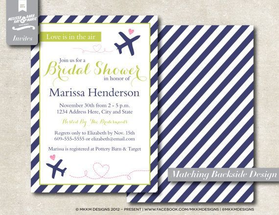 Travel Themed Bridal Shower Invitations Diy | Visit Etsy Com Part 69