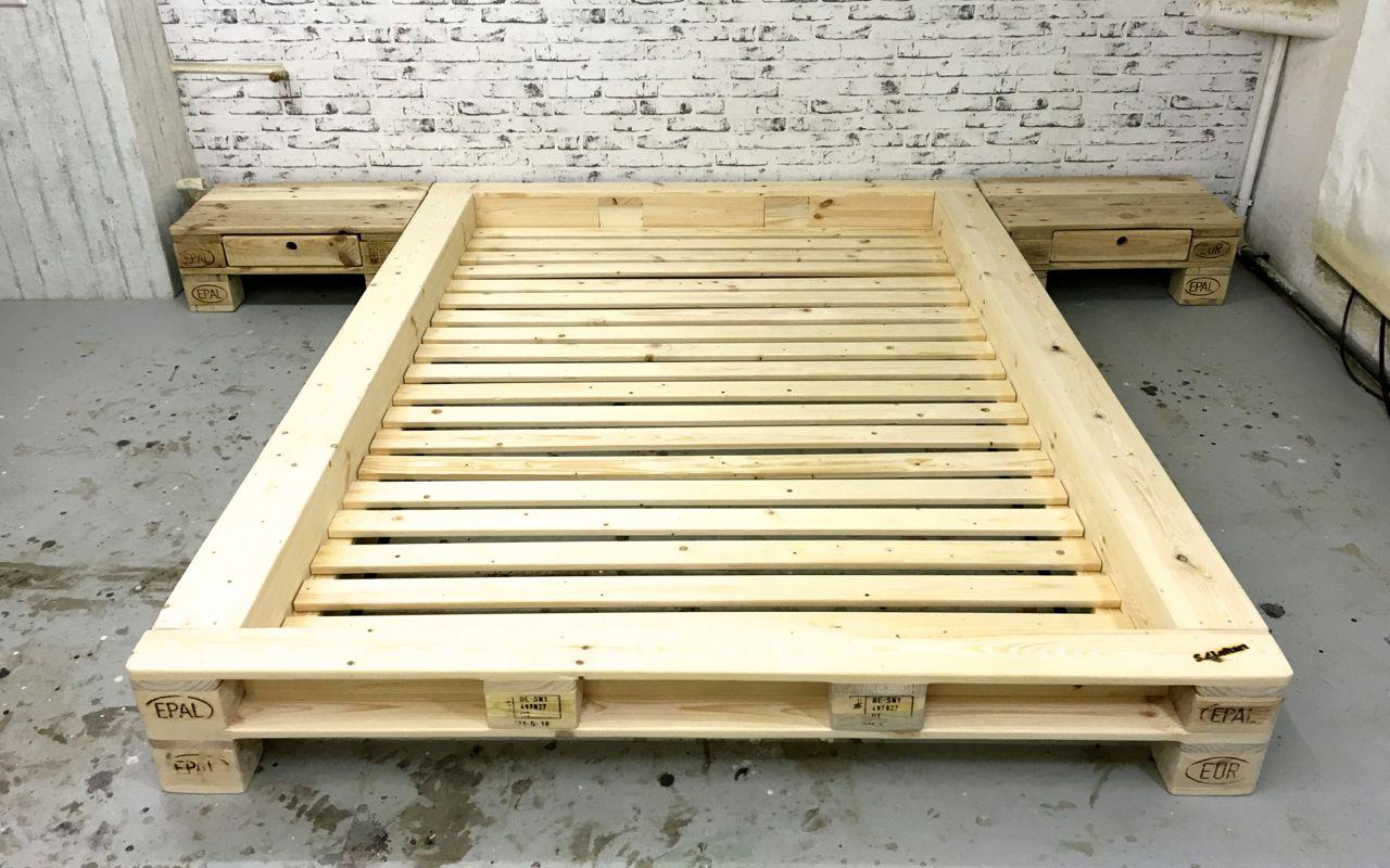 Holzpaletten Bett schön palettenmöbel bett galerie die designideen für badezimmer