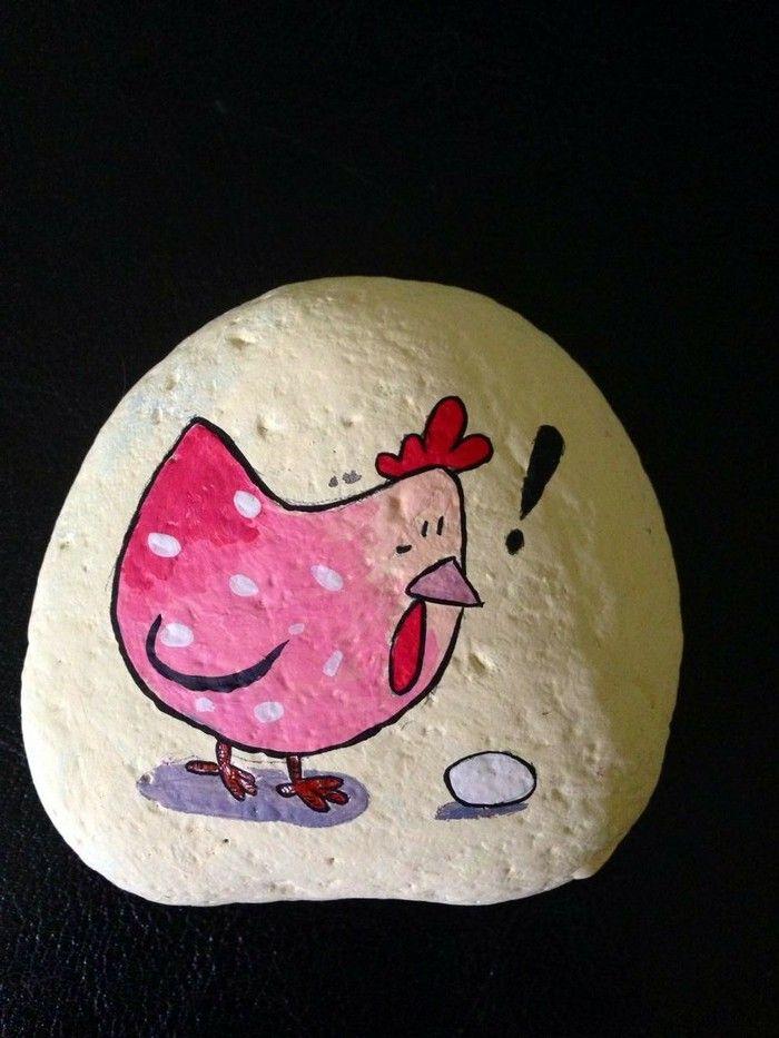ho egg painted stones pets farm animals rodents except cats pinterest steine. Black Bedroom Furniture Sets. Home Design Ideas