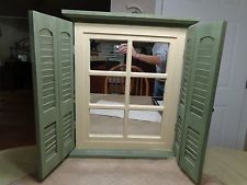 home interior window pane mirror with shutters white window with