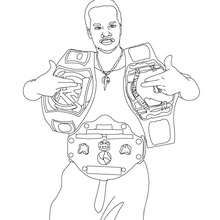 WWE gold belt winner artcoloring pages for grandkids