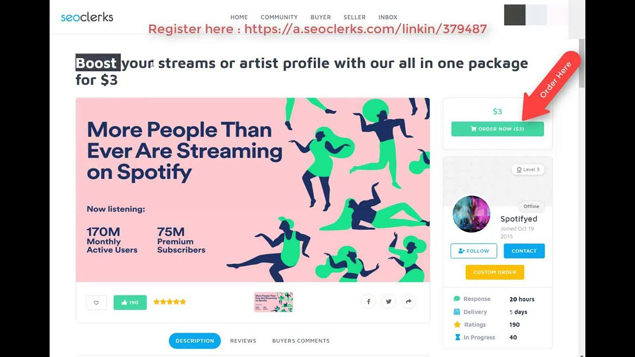 Boost Spotify Streams Plays Or Artist Profile With Our All In One Packag In 2020 Artist Profile Spotify Streaming