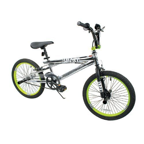 Dynacraft Boy S Magna Pain Killer Bike Silver Green 20 Inch By