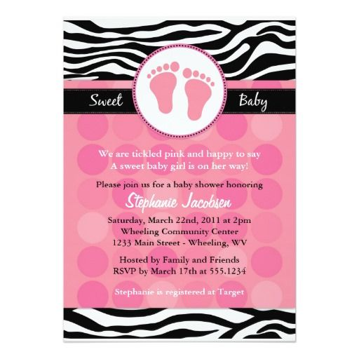 Mod zebra print baby shower invitations zebra print shower mod zebra print baby shower invitations filmwisefo