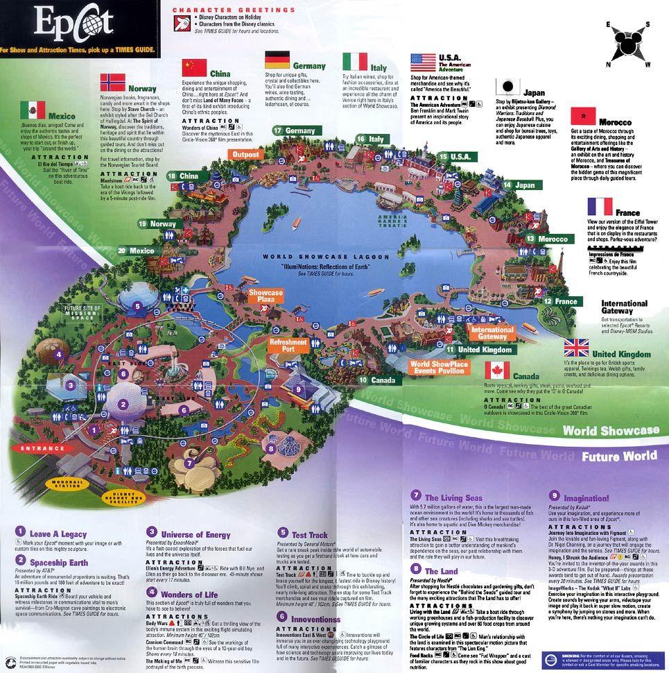 Epcot Map Google Search Disney Pinterest - Florida map orlando area