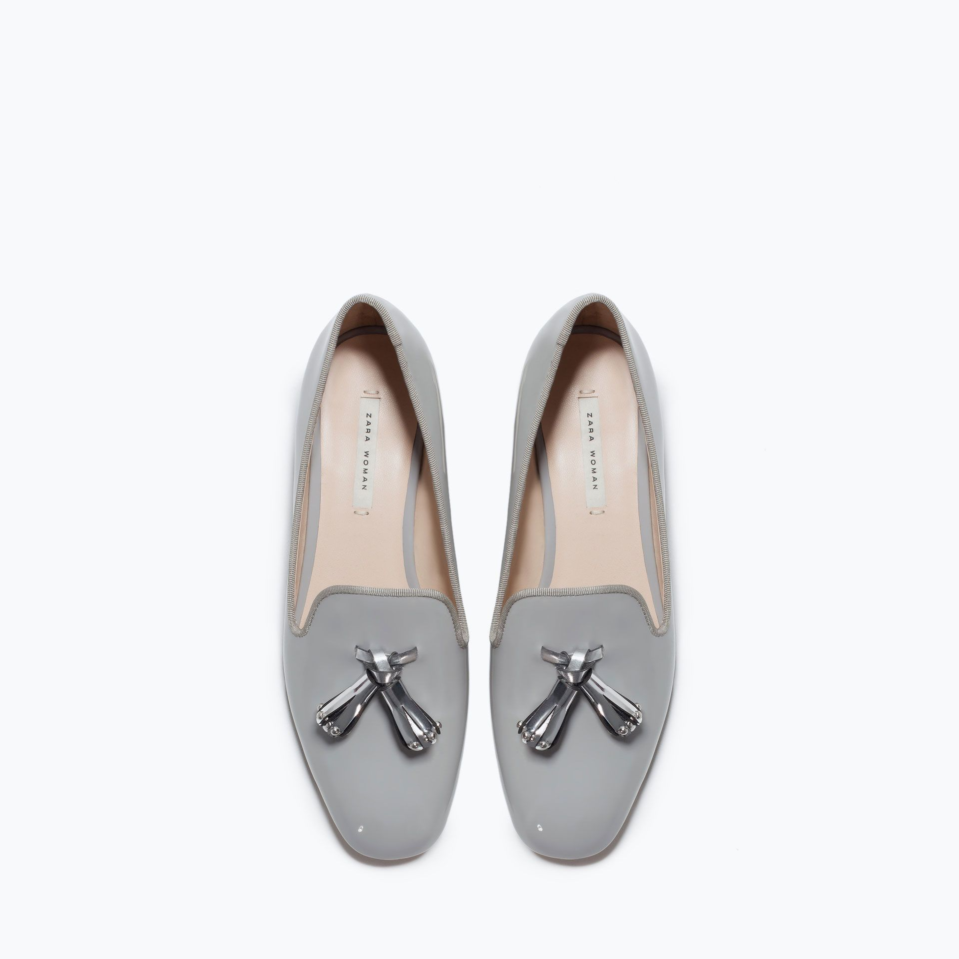 Flat shoes with tassels - View all - Shoes - WOMAN   ZARA United States