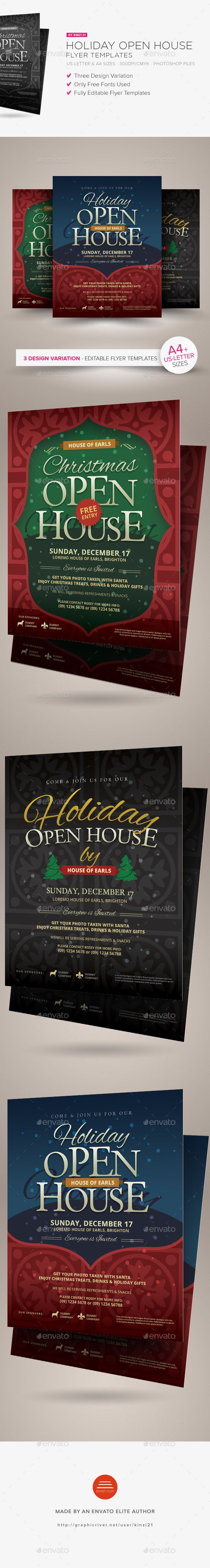Holiday Open House Flyer Templates Flyer Template Open House And