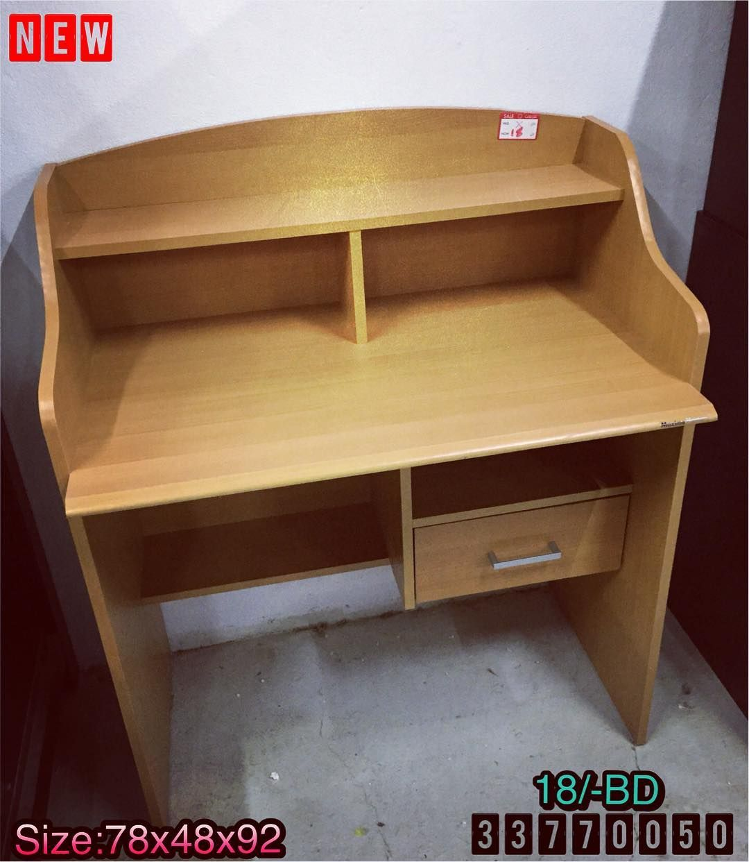 For Sale Study Table Size 78x48x92 Wood Brown Color New Made In Malaysia Price 18 Bd للبيع مكتب دراسة خشب لون بني Door Design Home Decor Decor