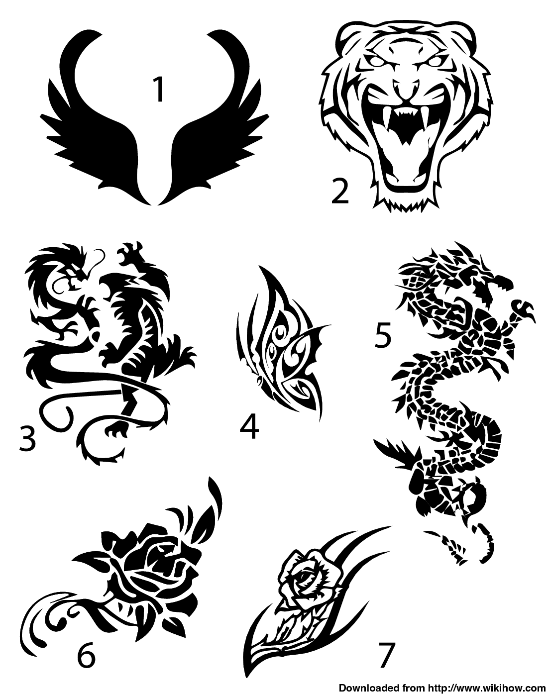Easy To Draw Tattoos: Easy Temporary Tattoo: Draw Your Design On A Piece Of
