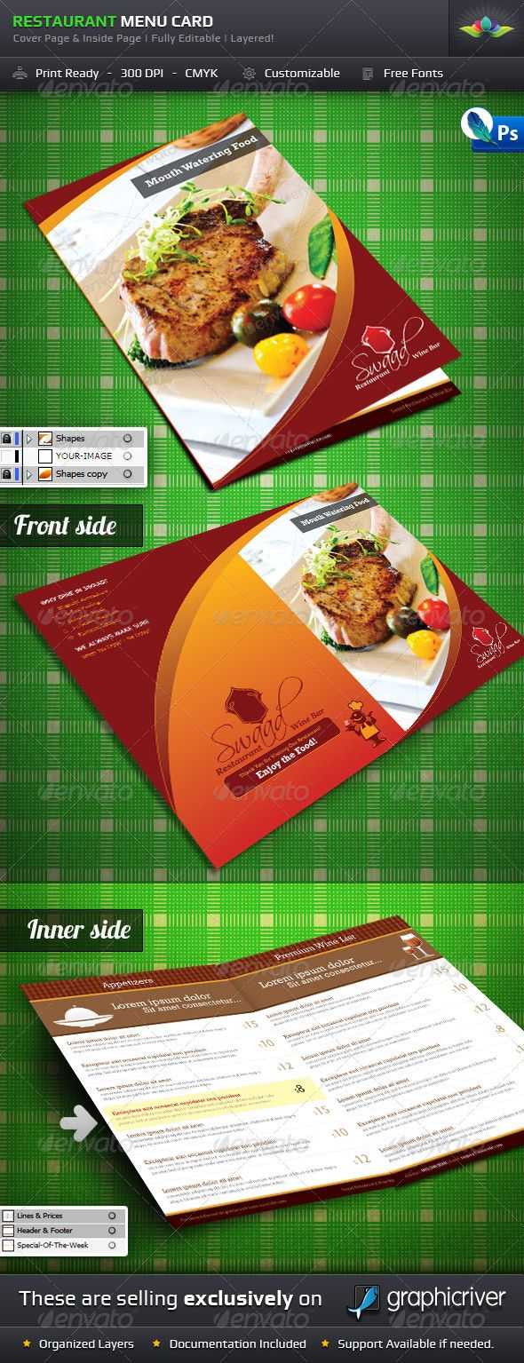 Restaurant Menu Card  Menu Cards Menu And Restaurants