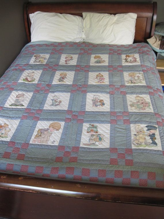 Precious Moments Cross-Stitch Quilt - Queen Size Quilt ... : precious moments quilt - Adamdwight.com