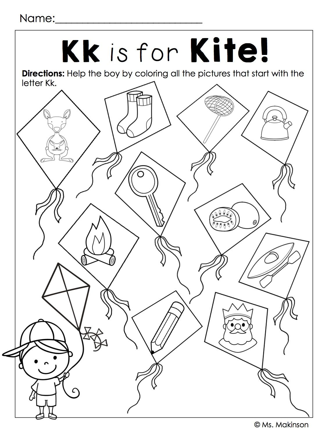 Beginning Sounds (With images) Kites preschool
