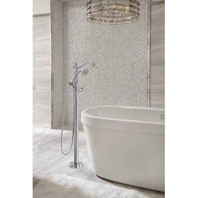 Delta Cassidy Floor Mount Freestanding Tub Filler Trim With